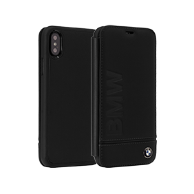 Чехол-книжка BMW Signature Logo Imprint Booktype для Apple iPhone X (BMFLBKPXLLS)
