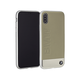Чехол-накладка BMW Signature Bi-material Leather/Aluminium для Apple iPhone X (BMHCPXSIL)