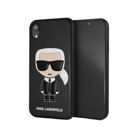 Чехол-накладка PU Leather Iconic Karl Hard для Apple iPhone XR