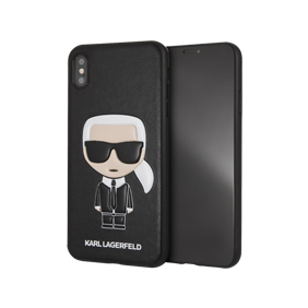 Чехол-накладка Lagerfeld PU Leather Iconic Karl Hard для Apple iPhone XS Max