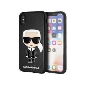 Чехол-накладка Lagerfeld PU Leather Iconic Karl Hard для Apple iPhone X/XS
