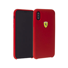 Чехол-накладка Ferrari On-Track SF Silicon Case для Apple iPhone X (FESSIHCPXRE)