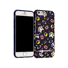 Чехол-накладка Lagerfeld Monster Choupette Print для Apple iPhone 6/6S Plus (KLHCP6LMCP)