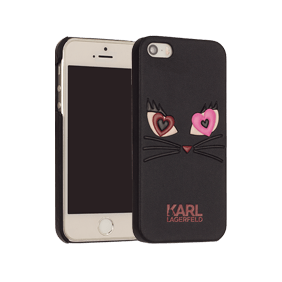 Чехол-накладка Lagerfeld Choupette in Love 2 для Apple iPhone 5/5S/SE (KLHCP5CL2)