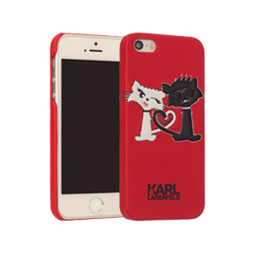 Чехол-накладка Lagerfeld Choupette in Love для Apple iPhone 5/5S/SE (KLHCP5CL1)