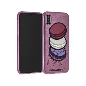 Чехол-накладка Lagerfeld Double Layer Macaroon Glitter для Apple iPhone X (KLHCPXPAR)