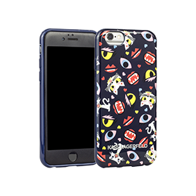 Чехол-накладка Lagerfeld Monster Choupette All Over Print для Apple iPhone 6/6S (KLHCP6MCP)