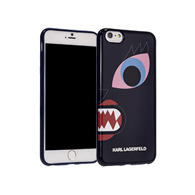 Чехол-накладка Lagerfeld Monster Choupette для Apple iPhone 6/6S Plus (KLHCP6LMCB)
