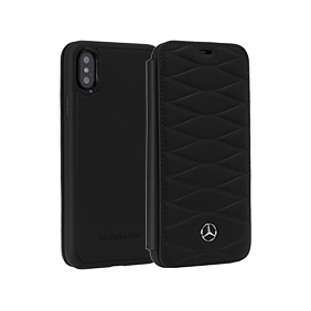 Чехол-книжка Merсedes-Benz Pattern III Booktype для Apple iPhone X (MEFLBKPXWHCL)