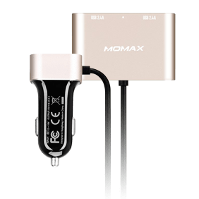 АЗУ Momax Car Charger With USB Extension Hub 4 USB 9.6A (UC6)