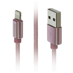 Кабель Lightning/USB Rock Metal Charge & Sync Round Cable 20 cm