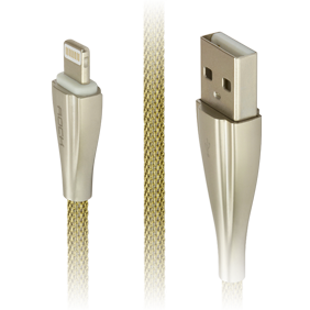 Кабель Lightning/USB Rock Metal Data Cable 100 cm