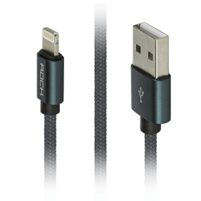 Кабель Lightning/USB Rock Metal Charge & Sync Round Cable 180 cm