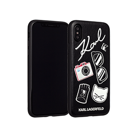 Чехол-накладка Lagerfeld Embossed Pins для Apple iPhone X (KLHCPXPIN)