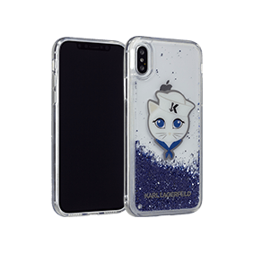 Чехол-накладка Lagerfeld Liquid Glitter Sailor Choupette для Apple iPhone X (KLHCPXKSCH)