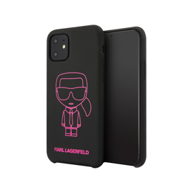 Задняя накладка Lagerfeld LIQUID SILICONE IKONIK для Apple iPhone 11 (6.1) (KLHCN61SILFL)