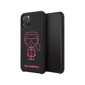 Задняя накладка Lagerfeld LIQUID SILICONE IKONIK для Apple iPhone 11 Pro (5.8) (KLHCN58SILFL)